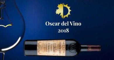L'Amarone Tommasi si aggiudica l'Oscar del Vino 2018